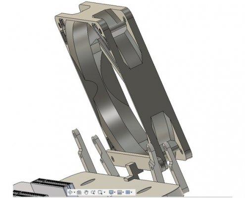 120mm Fan bracket render