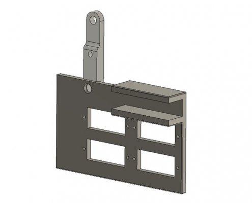4x small digital multi meter bracket for open benchtable