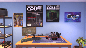 Open Benchtable Red in PC Building Simulator (full)